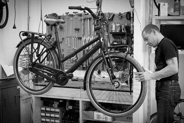 Werkplaats fietswinkel Auke
